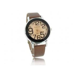 WOMAGE 9284-1 Уникальный дизайн Кожаный ремешок кварцевые наручные часы