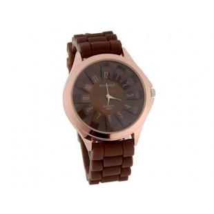 WoMaGe хризантема образный Женские наручные часы с текстурированной Блочный силиконовой лентой