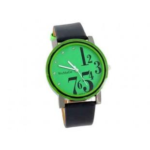 WoMaGe 9678-1 Женские PU Кожаный ремешок аналоговые часы (зеленый)