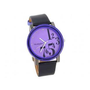 WoMaGe 9678-1 Женские PU Кожаный ремешок аналоговые часы (фиолетовый)