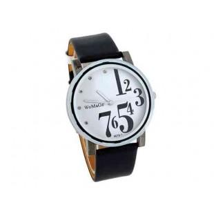 WoMaGe 9678-1 Женские PU Кожаный ремешок аналоговые часы (белый)