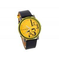 WoMaGe 9678-1 Женские PU Кожаный ремешок аналоговые часы (желтый)