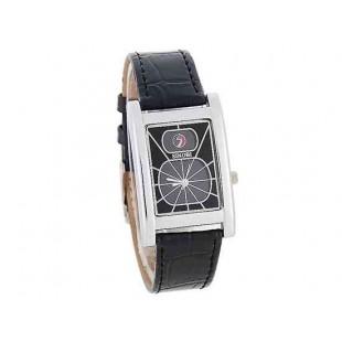 SINOBI Strong Rain аналоговые часы с кожаным ремешком (черный)