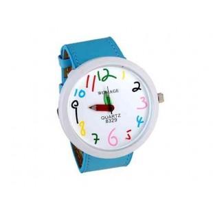 WOMAGE набор номера Карандаш женские руки Аналоговые часы (синий)