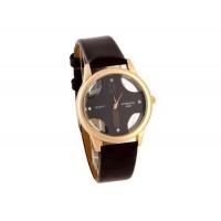 Womage Женская Аналоговые часы с PU Кожаный ремешок (коричневый)