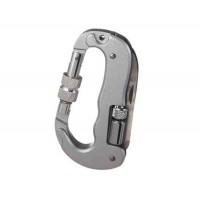 Многофункциональный алюминиевый сплав D формы Карабин (серебро)