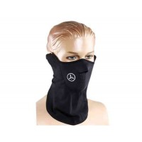 Эластичная ветрозащитная дышащая маска (черный)