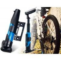 Sahoo 31076 Мини Портативный ручной велосипедный насос, ручной Надувное велосипедов (синий + черный)