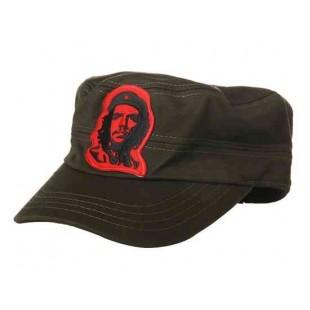 Удобный хлопок плоские Hat с Вышивка Че Гевара План главы (зеленый)