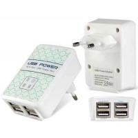 4 USB порта и зарядчик