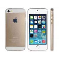 Прозрачный силиконовый чехол для iPhone 5S / 5 (белый)