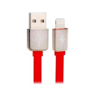 REMAX 1,8 м 8-контактный двусторонний USB плоский кабель данных для iPhone 5S/5/6/6 Plus (Красный)
