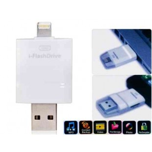USB 2.0 Micro SD Card Reader для iPhone5 / 5S / 6/6 Plus (белый)