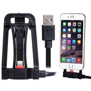 SHW-001 1,2 м Многофункциональный 8-контактный держатель кабеля для передачи данных для iPhone 5S / 5C / 5, iPhone 6 / iPhone Plus (черный)