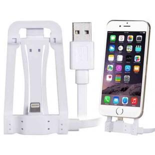 SHW-001 1,2 м Многофункциональный 8-контактный держатель кабеля для передачи данных для iPhone 5S / 5C / 5, iPhone 6 / iPhone Plus (белый)