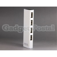 Купить  Прямоугольник 4-портовый USB-концентратор (белый)