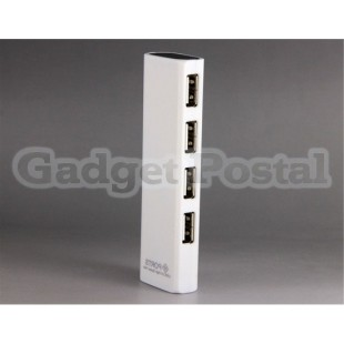 Прямоугольник 4-портовый USB-концентратор (белый)