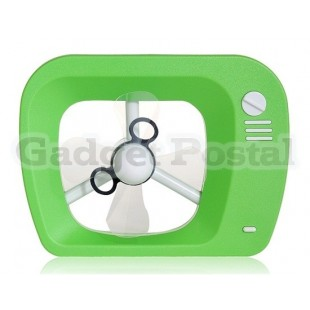 Mini TV Shaped Plastic USB Fan (Green)