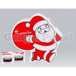 Санта-Клаус 4 порта USB 2.0 Интерфейсы хаб (черный)