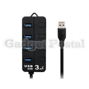 4-портовый USB 3.0 концентратор с  индикаторами