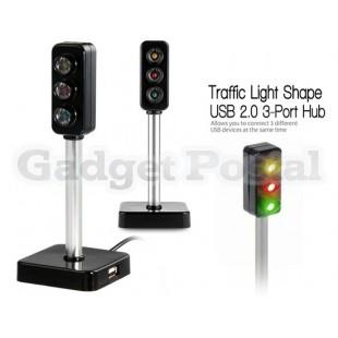 Светофор образный 3-портовый USB 2.0 хаб
