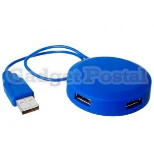 4-портовый USB 2.0 хаб (синий)