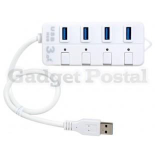 Высокоскоростной 5 Гбит 4 порта USB 3.0 хаб