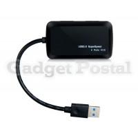 Купить TS-Hub02 Ультра-тонкий Высокоскоростной четырех портов USB 3.0 Hub (черный)