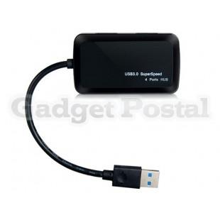 TS-Hub02 Ультра-тонкий Высокоскоростной четырех портов USB 3.0 Hub (черный)
