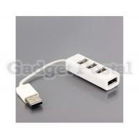 4-Port USB 2.0 High Speed Hub for PC/Laptop (White)
