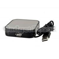 4 Порты USB Hub со светодиодной подсветкой (черный)