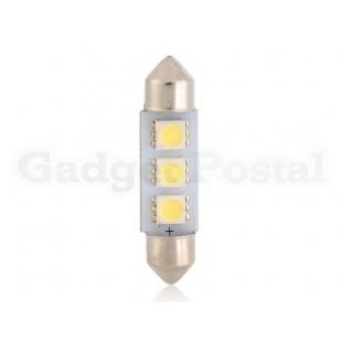 T10 5050 3-LED 39мм белый и синий Festoon свет