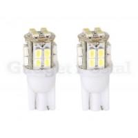 2PCS T10 12V 20LED белый свет лампа