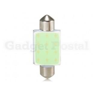 12-LED 39MM Ice Blue Light Car  светодиодная лампа