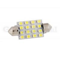 2 штуки 16-Светодиодная лампа 36MM 16 SMD 3528