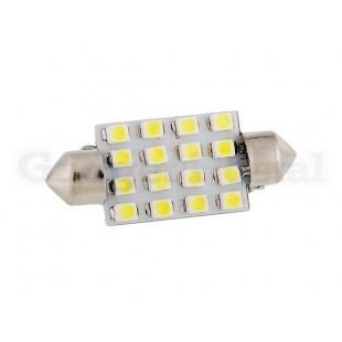 2 штуки 16-Светодиодная автомобильная лампа 36MM 16 SMD 3528