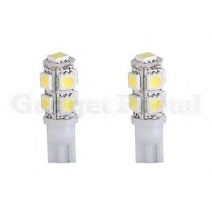 2шт Мини T10 9 * 5050 SMD светодиодные огни автомобиля (белый)