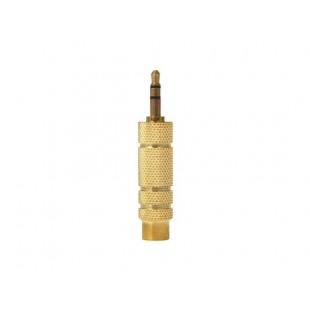 3,5 мм штекер 6,5 мм разъем-розетка адаптера (желтый)