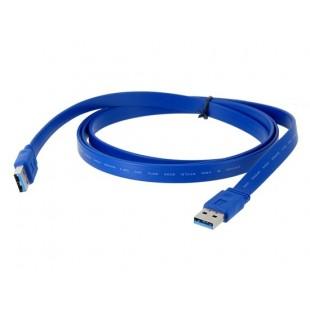 1.5m USB3.0 Плоский кабель (синий)