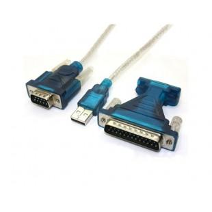 USB в RS232 последовательный 9Pin DB9 кабель адаптера PC КПК GPS (синий)