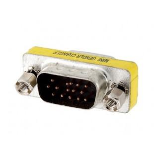 VGA Металл 15-контактный разъем для Женский адаптер для компьютеров (серебро)