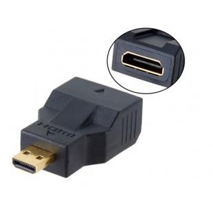 Позолоченный HDMI для Micro HDMI D Type Порт адаптер (черный)