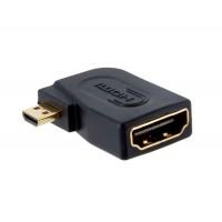 Позолоченный HDMI Женский к Micro Женский адаптер Порт (черный)