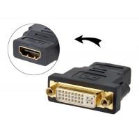 HDMI на DVI F F адаптер (черный)