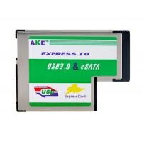 Компактный USB 3.0 & ESATA II 2.0 Combo для экспресс-адаптер