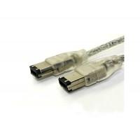 От 6 до 6-контактный IEEE-1394 Firewire кабель (серебро)