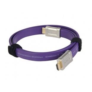 MOSHOU 1.4 Версия 1м Плоский кабель HDMI (фиолетовый)