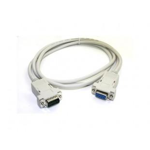 Последовательный порт DB9 3 фута мужчин и женщин 9 Pin кабель-удлинитель (белый)
