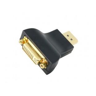 DisplayPort сигнал DVI сигнала Позолоченный адаптер (черный)