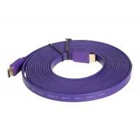 1.4 Версия 5м 1080P плоским Кабель HDMI (фиолетовый)